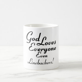 God Loves Linebackers! Mug