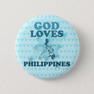 God Loves Philippines 6 Cm Round Badge