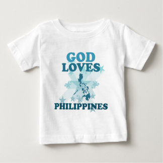 God Loves Philippines Baby T-Shirt