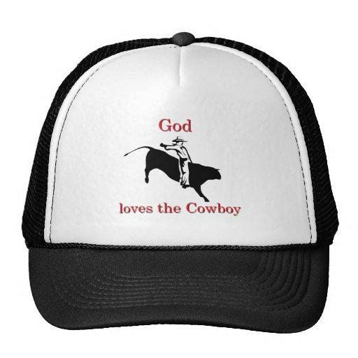 God loves the Cowboy Mesh Hat