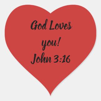 God Loves you! Heart Sticker
