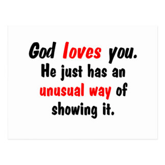 God loves you. postcard