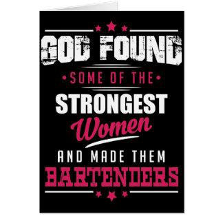 God Made Bartenders Hilarious Profession Design Card