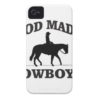 god made cowboys iPhone 4 Case-Mate case