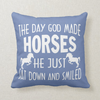 GOD MADE HORSES CUSHION