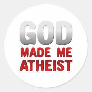 God Made Me Atheist Classic Round Sticker