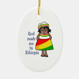 GOD MADE ME IN ETHIOPIA CHRISTMAS TREE ORNAMENT