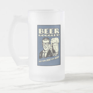 god nector challace frosted glass beer mug
