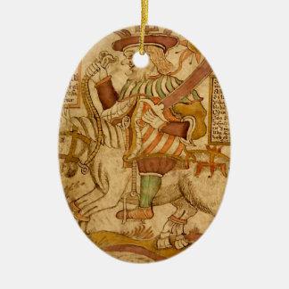 God Odin on his Eight-legged Horse Sleipnir - 3NBG Ceramic Ornament