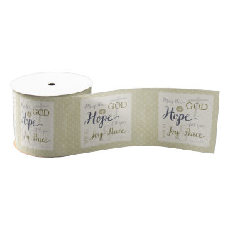 God of Hope Fill You with Joy & Peace Grosgrain Ribbon
