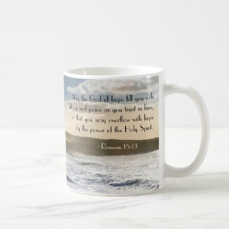 God of Hope, Romans 15:13 Bible Verse, Irish Coast Coffee Mug