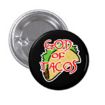 God of Tacos 3 Cm Round Badge