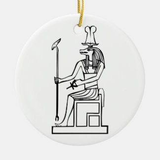 God of water, Egyptian hieroglyph Christmas Ornaments