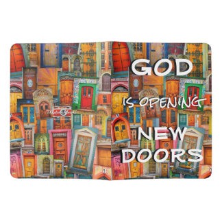 God Opens Doors Colorful Unique Extra Large Moleskine Notebook