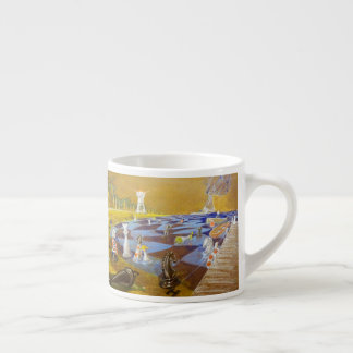 God Playing Chess Game Espresso Cup