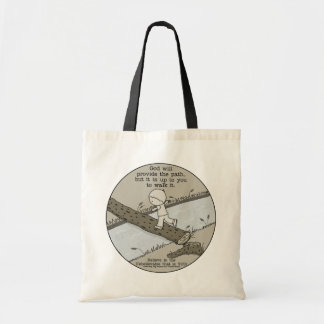 God Provides a Path Tote Bag