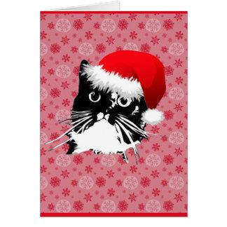 """God Rest Ye Furry Gentlemen"" Cat Christmas card"