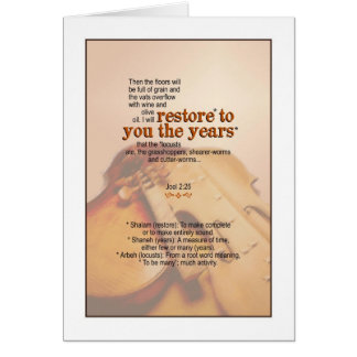 God Restores the Years - Joel 2:25 Greeting Card