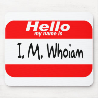 God s Name Tag red Mousepad