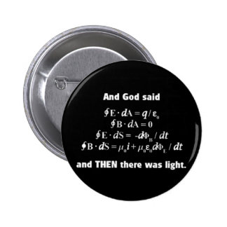 God Said Let There Be Light Religious Satire Pins