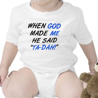 God Said Tadah Funny Romper Creeper Bodysuit