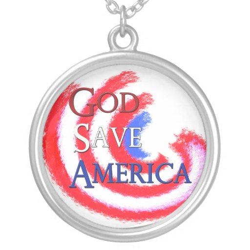 God Save America necklace