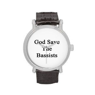 God Save The Bassists Wristwatches