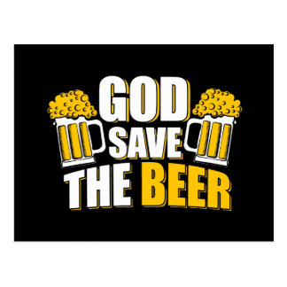 god save the beer postcard