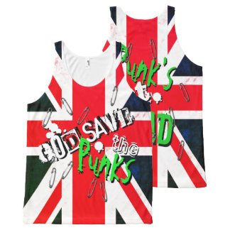 God Save the Punk's Not Dead Grunge Union Jack All-Over Print Singlet