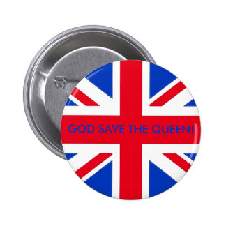 GOD SAVE THE QUEEN! 6 CM ROUND BADGE