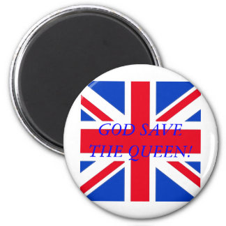 GOD SAVE THE QUEEN! 6 CM ROUND MAGNET