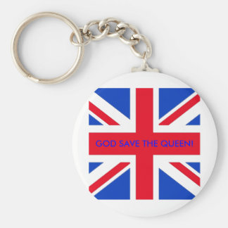 GOD SAVE THE QUEEN! BASIC ROUND BUTTON KEY RING