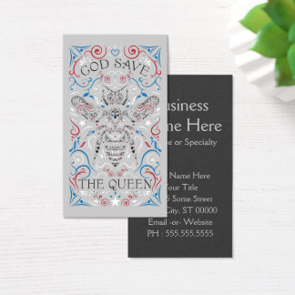 god save the queen business card