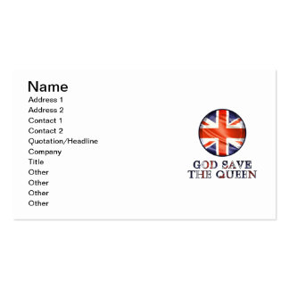 God Save The Queen Pack Of Standard Business Cards