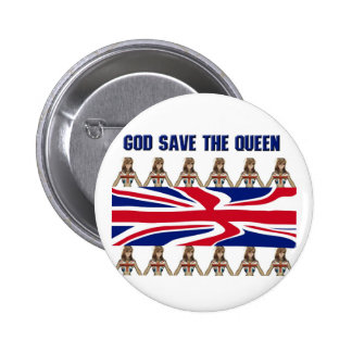 God Save The Queen Button