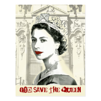 God Save the Queen Post Card
