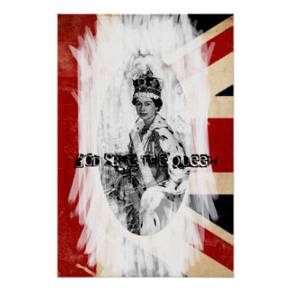God Save the Queen punk/grunge Poster