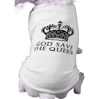 God Save The Queen Sleeveless Dog Shirt