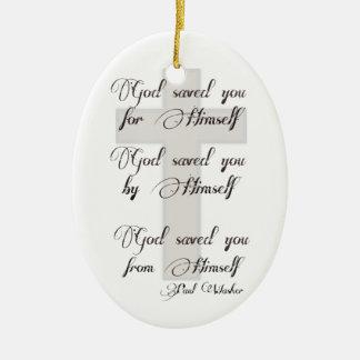 God Saved You Ceramic Oval Decoration