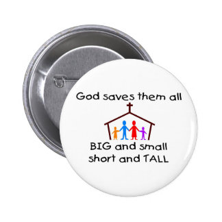 God saves all button