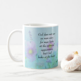 God Sees The Heart, 1 Samuel 16 Coffee Mug