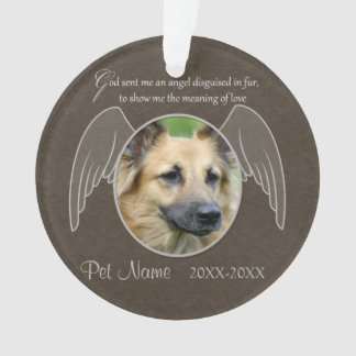 God Sent an Angel Pet Sympathy Custom Ornament