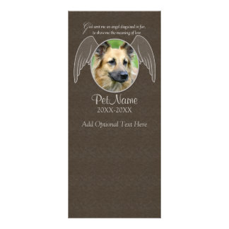 God Sent an Angel Pet Sympathy Custom Rack Card