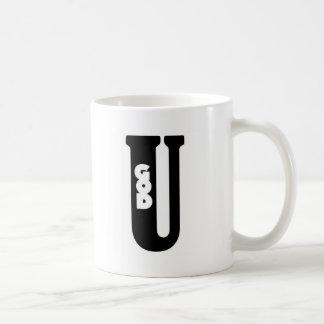 God shaped hole coffee mug