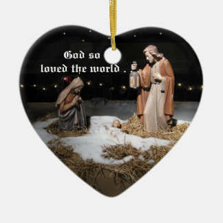 God So Loved The World Christmas Tree Ornament