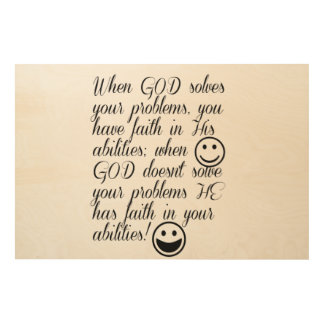 God Solves Your Problem Wood Wall Decor