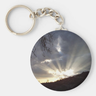 God Speaks Basic Round Button Key Ring