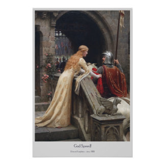 God Speed by Edmund Leighton Poster