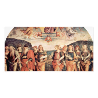 God The Father With The Prophet And Sibyl Customized Photo Card
