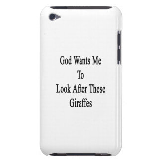God Wants Me To Look After These Giraffes Barely There iPod Case